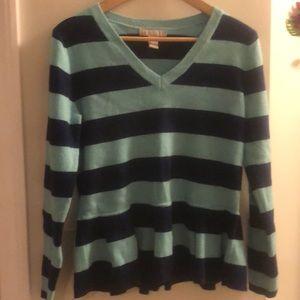 Blue Banana Republic Striped Peplum Sweater